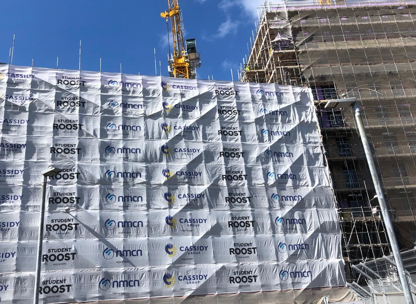 printed scaffold sheeting