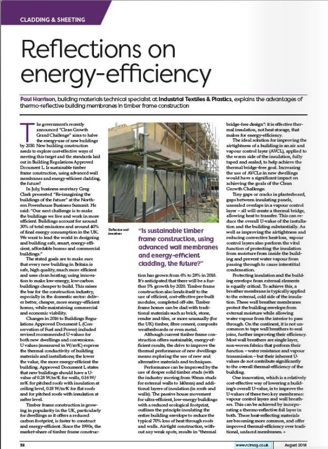 ITP in RCI Magazine Aug 18