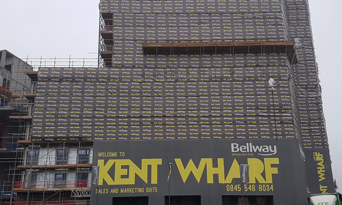Premium FR digi print Bellway Kent Wharf London